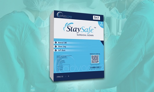 StaySafe Hospital Gown Packaging